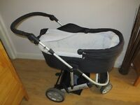 Mamas & Papas Black & Silver Zoom Pram / Stroller for sale