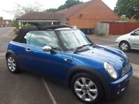Mini One Convertible for sale. 1.6l petrol. MOT'd until Feb 2019. Serviced July 2018.