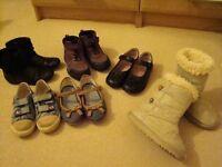 Bundle of girls footwear size 10-11 infant