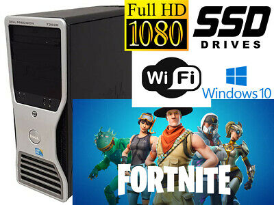 Gaming PC Dell Precision T3500 12GB 128GB SSD +1TB HDD GTX650 Ti WIFI WIN10