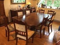 Antique French Oak Dining Table seats 16-18 people
