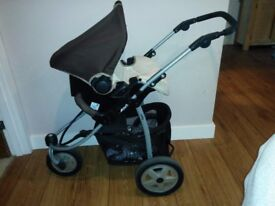 Travel system - car seat carry cot/pram and outward facing pushchair