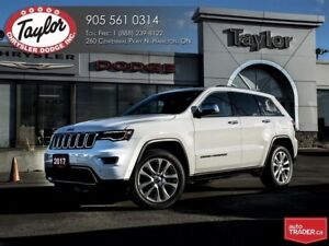 2017 Jeep Grand Cherokee Limited V6 w/Pano Sunroof, Navi, Safety
