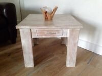 Vintage style solid oak coffee table
