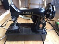 Vintage 1950s? Class 99K Singer sewing machine + orig cover, VGood working order, collect from EH10