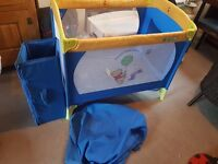 Winnie-the-Pooh travel cot in very good condition.
