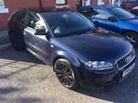 Audi A3 S-Line 1.6 - LOW MILEAGE - CHEAP TAX + INSURANCE - (NOT VAUXHALL ASTRA VW GOLF POLO MERC )
