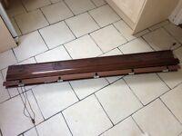 Wooden Venetian blind - 169cm Wide 120+cm Drop