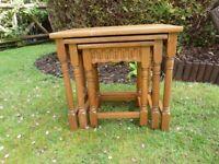 Nest of Tables - Light Oak Finish