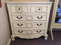 French style shabby chic chest of drawers