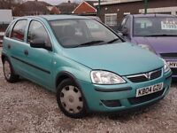 2004 04 REG VAUXHALL CORSA 1.2 VERY LOW MILES 60K LONG MOT PX WELCOME