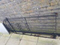 Metal side gate - black 78.5cm*179cm