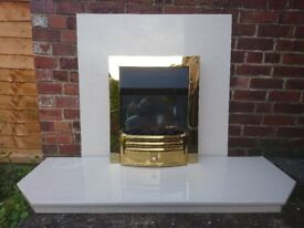 Marble backplate and base with fireplace