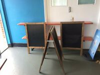 2 x A frame blackboards (being sold as a pair)
