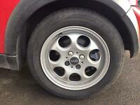Mini wheels 14inch with run flat tyres