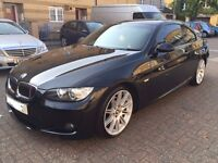BMW 325D M SPORT COUPE 2008 58 PLATE, AUTO, FULL BMW HISTORY BLACK LEATHER SEATS (3 LITRE MODEL)