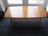 Vintage Large Ercol Coffee Table - Light Colour (Blonde)