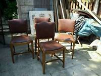 Four sturdy vintage dinning chairs