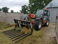 Buckrake, telehandler/ tractor loader bucket