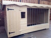 Brand new extra large dog kennel and run with galvanised bars and window 10 FT - PRICE DROP
