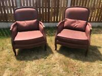 French Begere style chairs