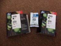 HP 350 + 2x 351 genuine ink cartridges