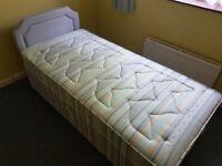 Single bed, matress and headboard