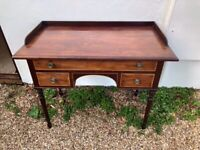 Antique inlaid mahogany dressing table/wash stand