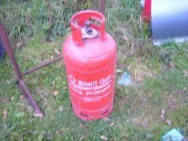 empty 18.5 kg shell propane bottle