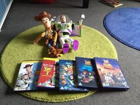 Buzz, woody & toy story dvd collection