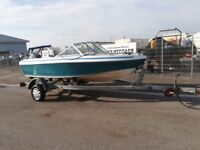 Speed boat, 70hp Yamaha, galvanised trailer with new axle and wheels