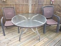 Free Glass garden table and chairs