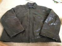 Men's Principles genuine leather jacket XL
