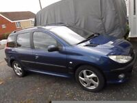 peugeot 206 estate diesel turbo hdi 2.0 very low miles for year