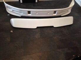 Vw t5 crime side bars swb plus front lower splitter plus rear boot spoiler tailgate model