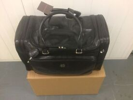 The Bridge Leather 55cm Hold-all Brand New with Tags Dust bag and Boxed Italian Leather Rare
