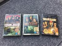 Pirates of the Caribbean dvds