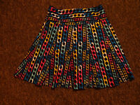 Brand New With Tags Printed Cotton skirt Size 12 Medium- Summer fav