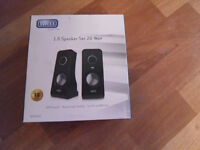 Sweex 2.0 Speaker Set 20 Watt for PC and MP3 use, as new in Original Packaging only £15