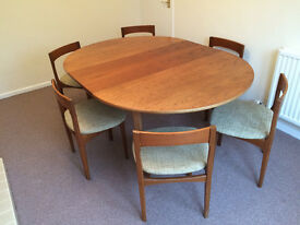 Nathan Dining Table and 6 matching chairs