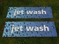 Jet Wash Sign x 2 - Ascot Berkshire