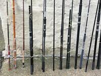 Barn find lot of fishing rods £50