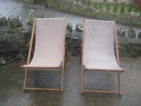 Garden deckchairs x 2