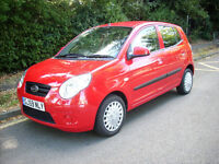 AUTOMATIC 59 REG KIA PICANTO 5DOOR 1.0LTR ONLY 15400 MILES ONE FAMILY OWNED EXC.CON. 1 YEARS MOT