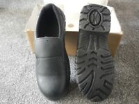 BRAND NEW Men's / Boys Leather Safety Work Shoes steel toes Anti-slip Anti-static Size 6.5