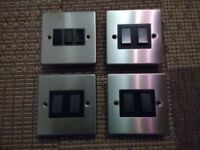 Light switches - Satin stainless steel
