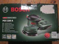 Bosch PEX 320 Random Orbtal sander 220watt New sealed box