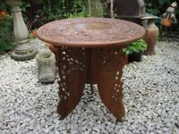 Ornately Carved Teak,Hall Table/Lamp Table/Plant,Table.