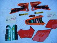 KTM exc Factory Graphics set for 2004-2007 all models 2 and 4 stroke.