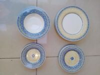 Vintage Churchill Ports Of Call By Jeff Banks Prague Pattern Dinner Salad Side Soup Plates